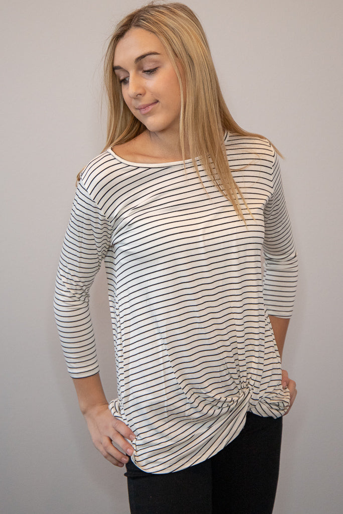 City Lights Striped Top