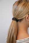 Hotline Hair Ties Black Matte - 3 Pack