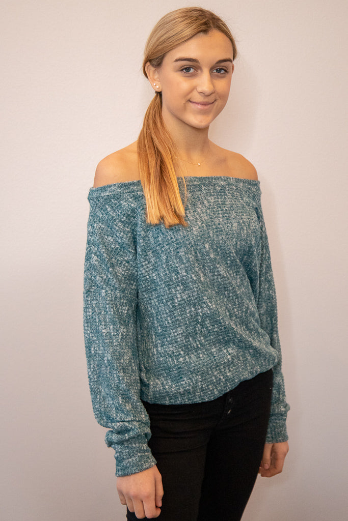 Totally Teal Sweater