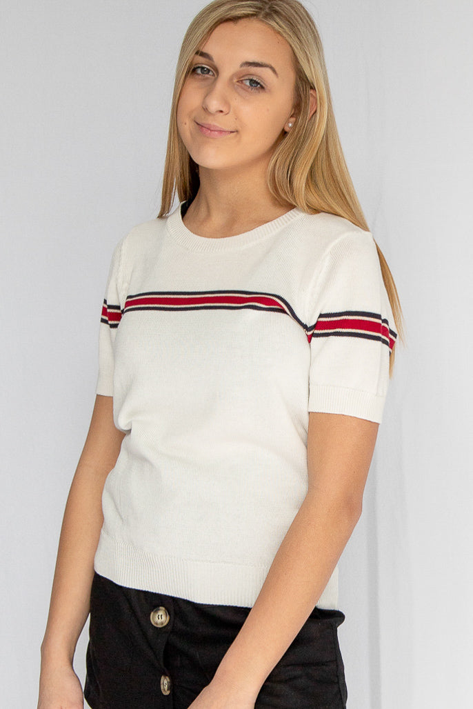 Break Free Stripe Sweater Top