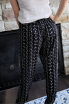 Zoey Black Striped Pants