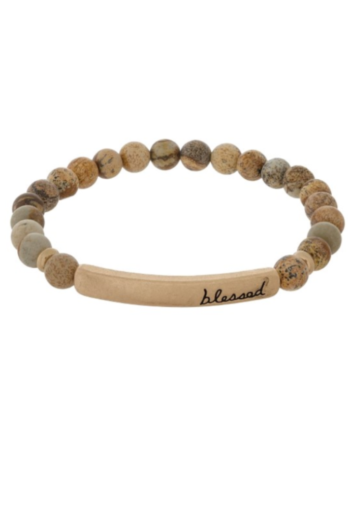 Blessed Wooden Beaded Bracelet
