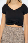 Happy Days Black Crop Top