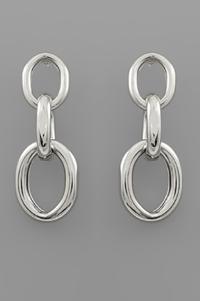 Linked for Life Earrings - Silver