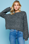 Dream Big Charcoal Sweater