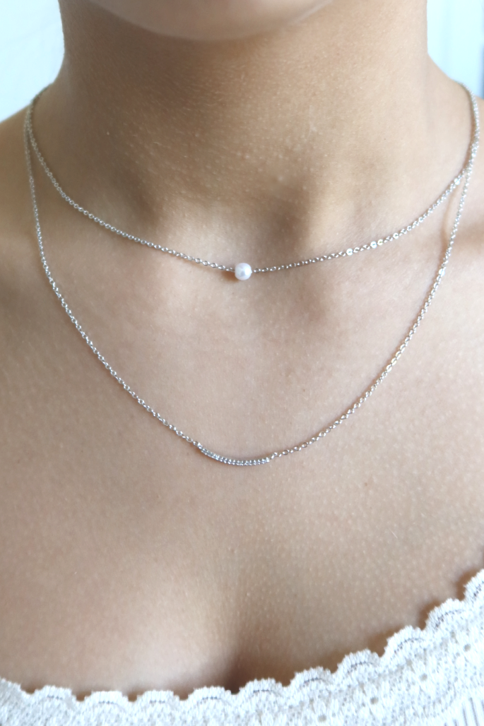 Wishful Thinking Pearl Layered Necklace