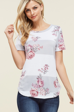 Rose Petals Striped Top