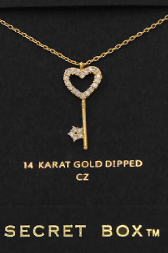 Key to My Heart Necklace - Gold