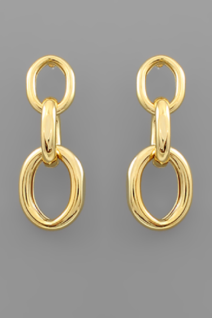 Linked for Life Earrings - Gold