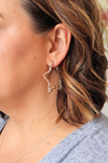 Shooting Star Silver Earrings