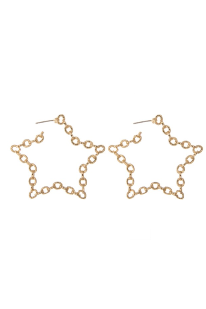 Shooting Star Gold Earrings