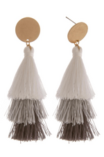 You're the One Gray Tassel Earrings