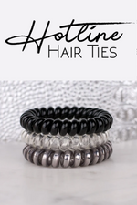 Hotline Hair Ties Black Diamond - 3 Pack