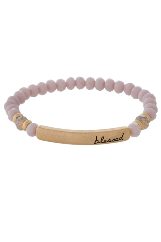 Blessed Pink Dreams Beaded Bracelet