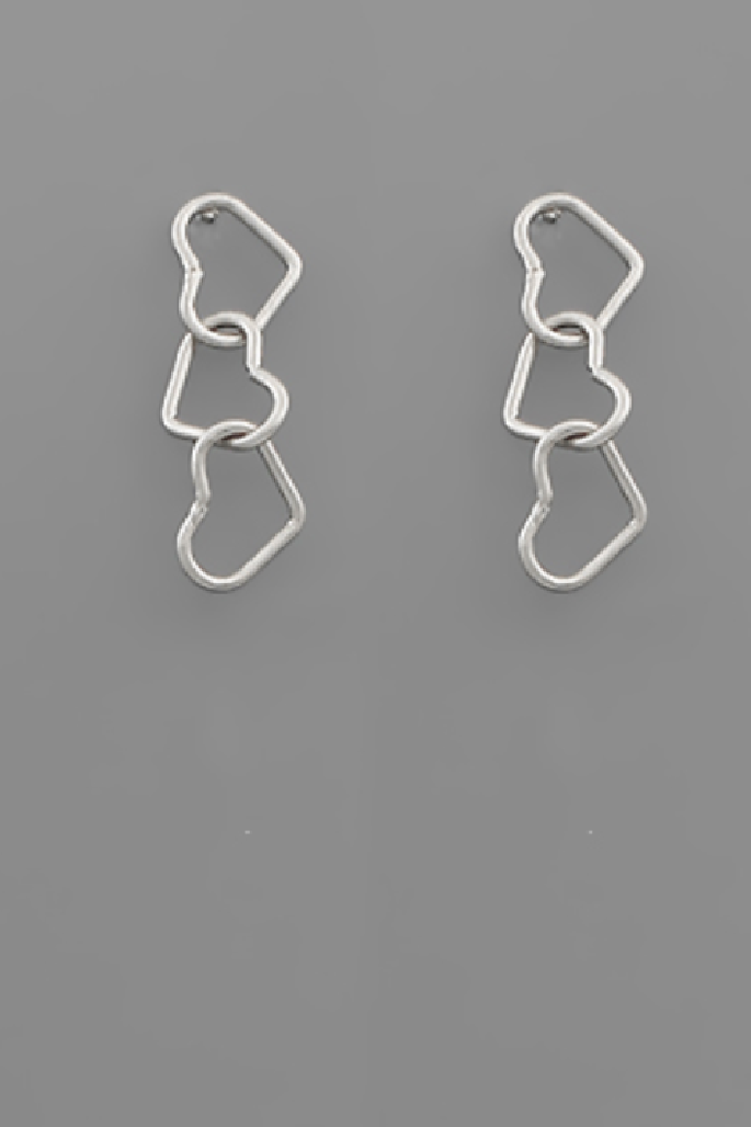Love You Always Earrings - Silver