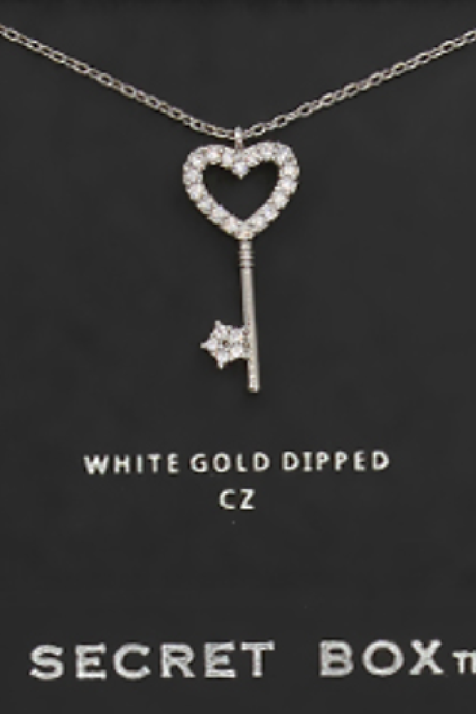 Key to My Heart Necklace - Silver
