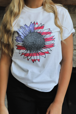Star Spangled Sunflower Tee