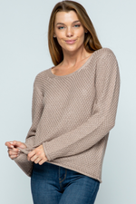 Girls Weekend Sweater ~ Taupe