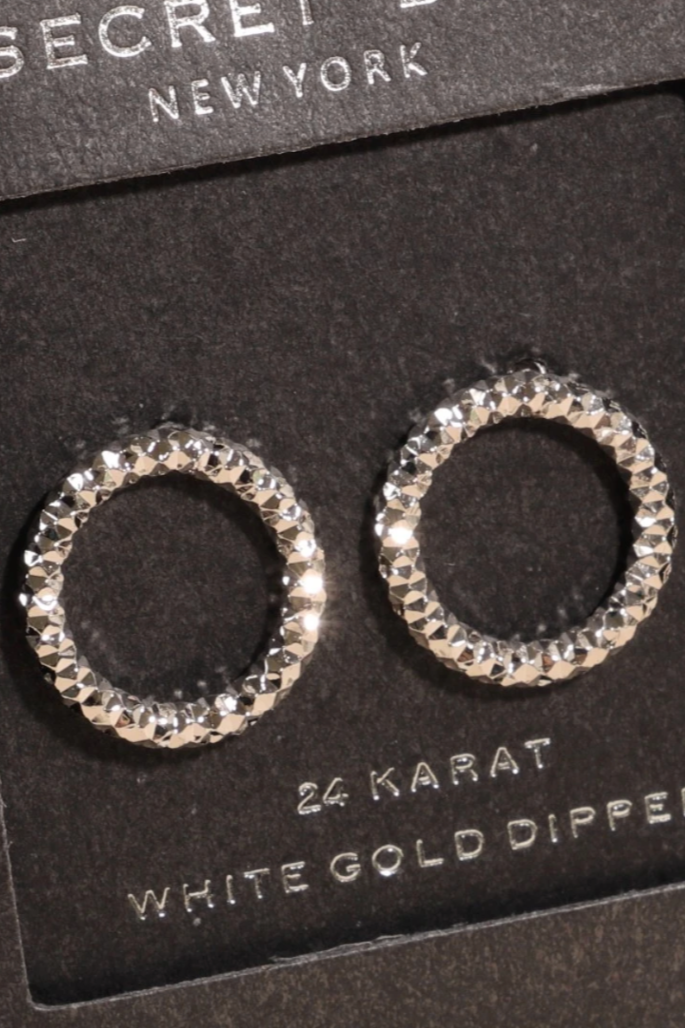 Eternity White Gold Earrings