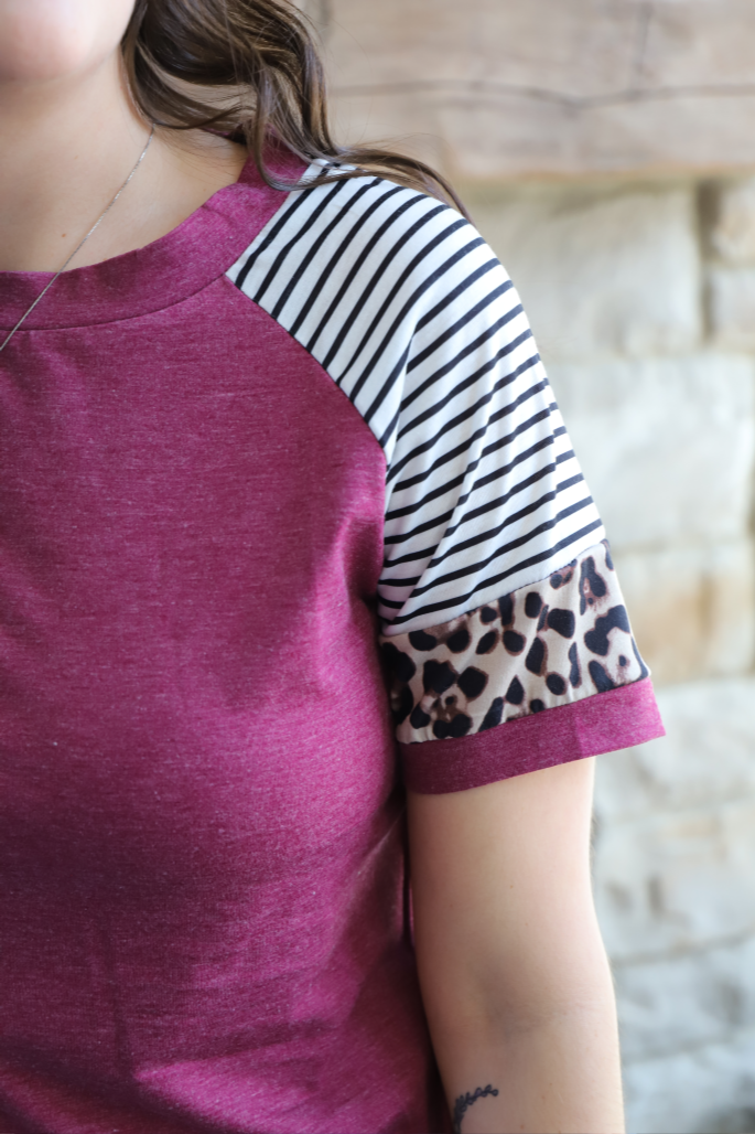 Be Fearless Patchwork Top