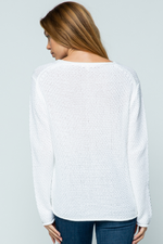 Girls Weekend Sweater ~ White