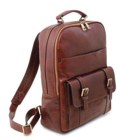 Nagoya - Leather laptop backpack TL141857