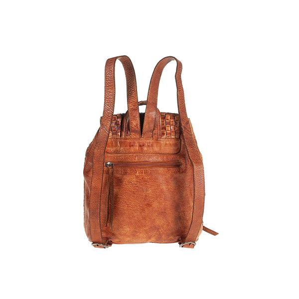 Backpack in hand-woven vintage genuine leather TS5042I Women Bags Tuscans