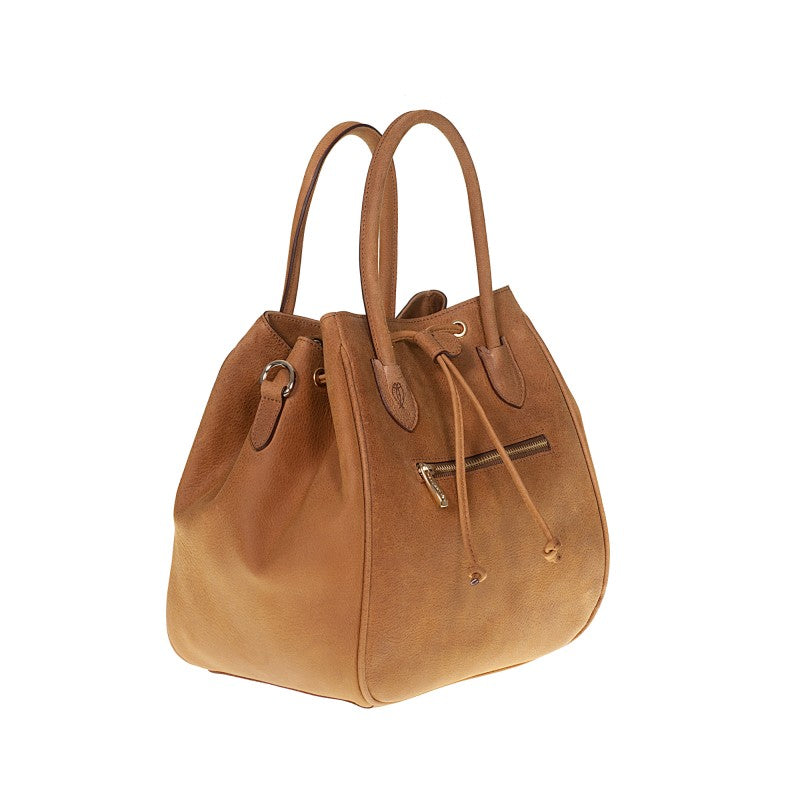 Real leather Bag drawstring closure Luicciana TS37104 Women Bags Tuscans