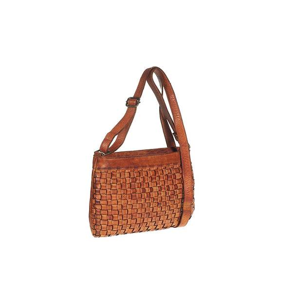 Shoulder bag in genuine hand-woven leather TS9546I Women Bags Tuscans