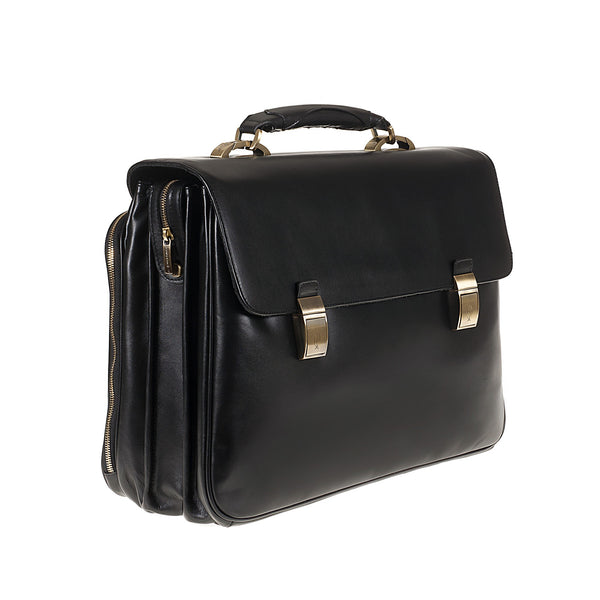 Professional Bag real leather three compartments Sterlina TS110 Business Tuscans