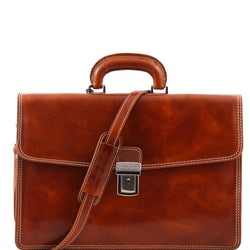 Amalfi - Leather briefcase 1 compartment TL10050 Business Tuscany Leather