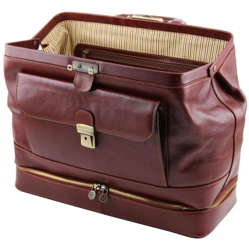 Giotto - Exclusive double-bottom leather doctor bag TL141297 Business Tuscany Leather
