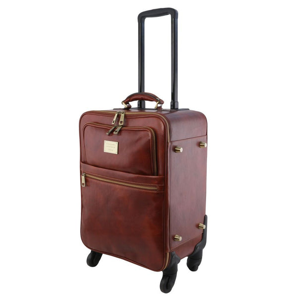 TL Voyager - 4 Wheels vertical leather trolley TL141911 Luggage Tuscany Leather