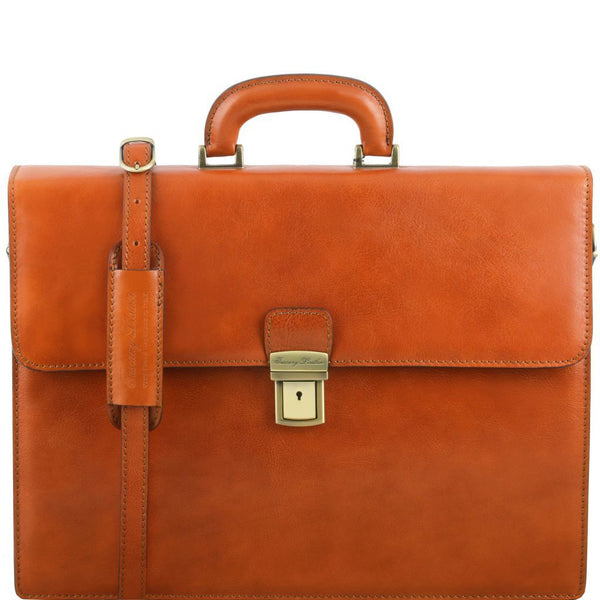 Parma - Leather briefcase 2 compartments TL141350 Business Tuscany Leather