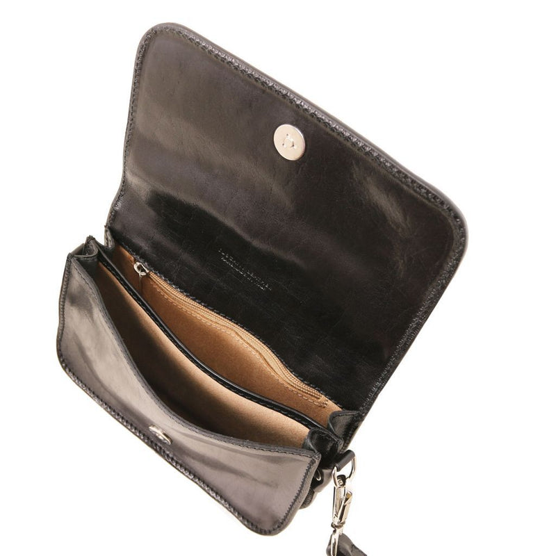 Carmen - Leather shoulder bag with flap TL141713 Women Bags Tuscany Leather