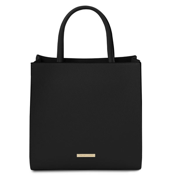 Medea - Leather vertical tote TL141937 Women Bags Tuscany Leather
