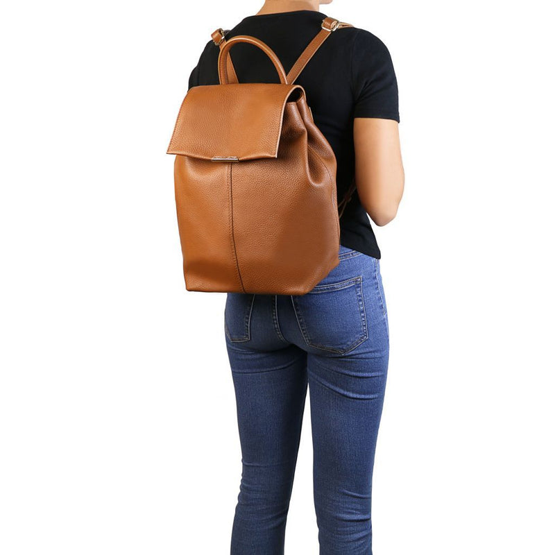 TL Bag - Soft leather backpack for women TL141706