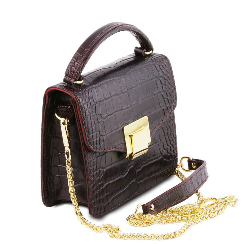 TL Bag - Croc print mini bag TL141890 Women Bags Tuscany Leather