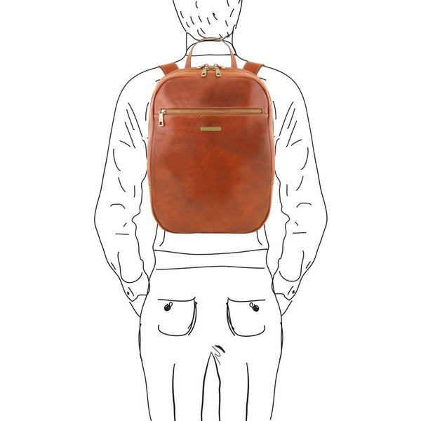 Osaka - Leather laptop backpack TL141711 - getanybag.com