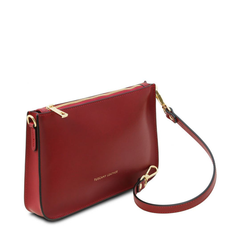 Cassandra - Leather clutch handbag TL141870 Women Bags Tuscany Leather