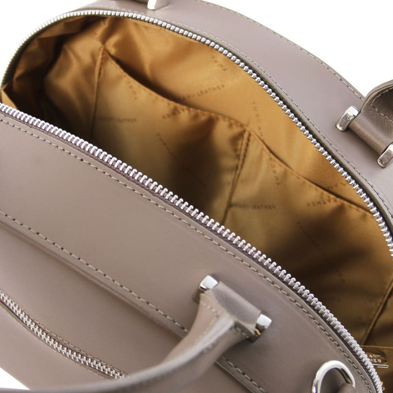Ninfa - Leather round duffle bag TL141872 Women Bags Tuscany Leather