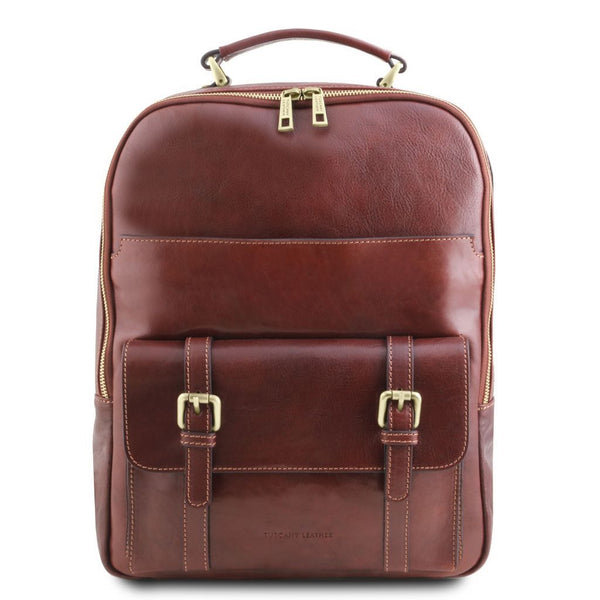 Nagoya - Leather laptop backpack TL141857 Tuscany Leather - getanybag.com