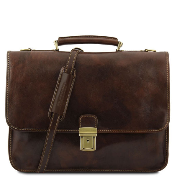Torino - Leather briefcase 2 compartments TL10029 Business Tuscany Leather