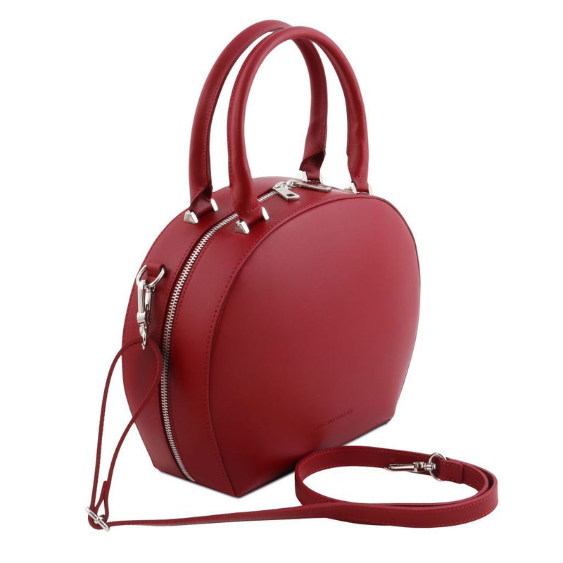 Ninfa - Leather round duffle bag TL141872 - getanybag.com