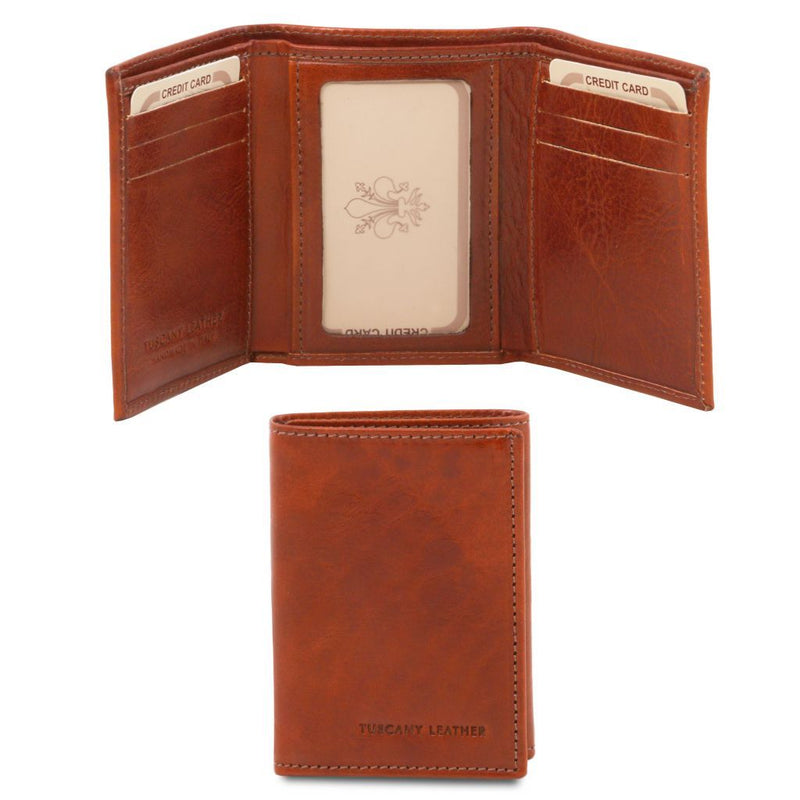 Exclusive 3 fold leather wallet TL140801 Women Bags Tuscany Leather
