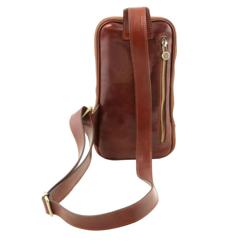 Martin - Leather crossover bag TL141536 Men Bags Tuscany Leather