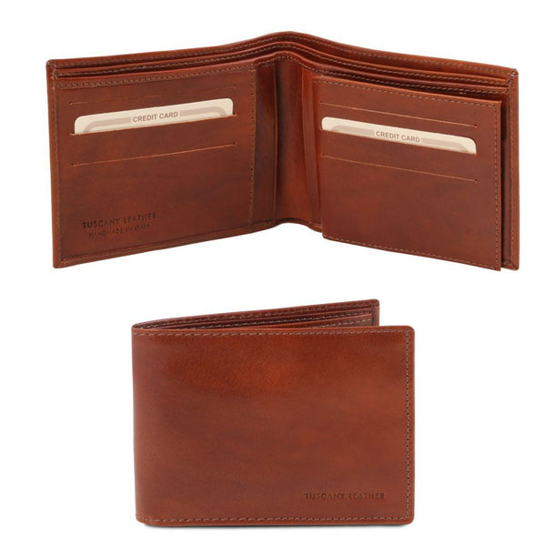 Exclusive leather 3 fold wallet for men TL140817 Men Bags Tuscany Leather