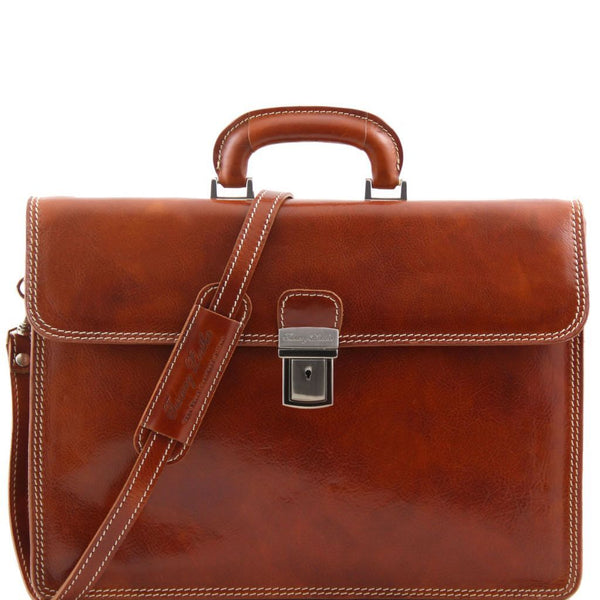 Parma - Leather briefcase 2 compartments TL10018 Business Tuscany Leather
