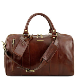 TL Voyager - Travel leather duffle bag - Small size TL141216 Luggage Tuscany Leather