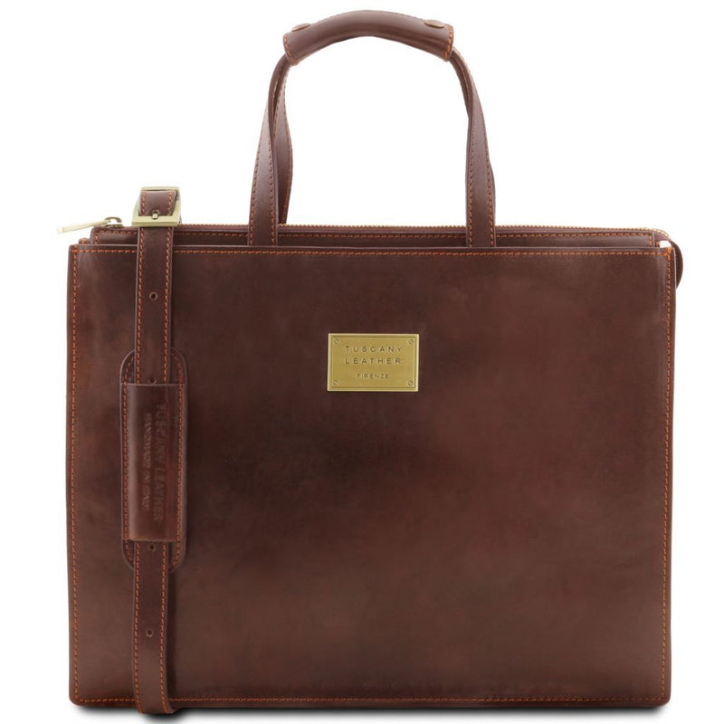 Palermo - Leather briefcase 3 compartments for women TL141343 Business Tuscany Leather